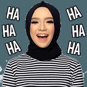 สติ๊กเกอร์ไลน์ The Monochrome Hijab Style Enthusiast v2