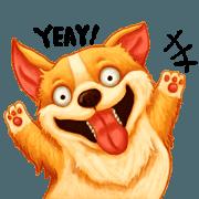 สติ๊กเกอร์ไลน์ Expressive dogs 2