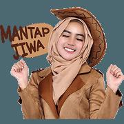 สติ๊กเกอร์ไลน์ Cithatha: Cowgirl Hijab Vol. 3 (Sachet)
