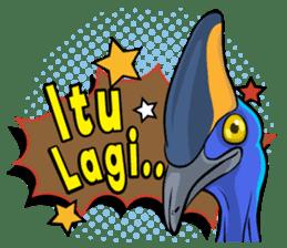 The Kaslopa - Papuan Slang Cassowary sticker #15663633
