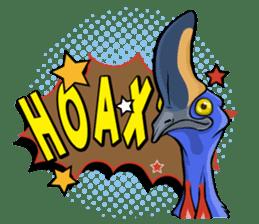 The Kaslopa - Papuan Slang Cassowary sticker #15663635