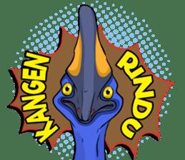 The Kaslopa - Papuan Slang Cassowary sticker #15663636