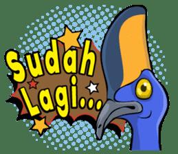 The Kaslopa - Papuan Slang Cassowary sticker #15663637