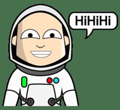 Ash The Astronaut sticker #15668187