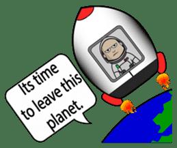 Ash The Astronaut sticker #15668193