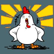 สติ๊กเกอร์ไลน์ Funny Rooster Sachet 1