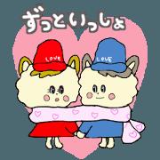 สติ๊กเกอร์ไลน์ Mr.Mokomoko and Ms.Moko