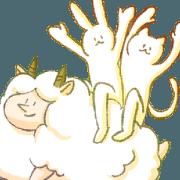สติ๊กเกอร์ไลน์ happy sheep with happy friends