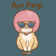 สติ๊กเกอร์ไลน์ Cat's Lifestyle-Move!(Indonesian Ver.)