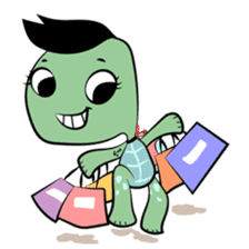 Shelly The Tomboy Turtle sticker #15684442
