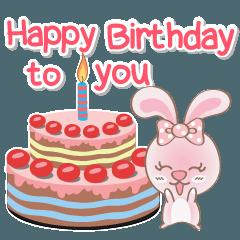 สติ๊กเกอร์ไลน์ แรบบิทโต้ (ต้า) สุขสันต์วันเกิด 2560