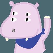 สติ๊กเกอร์ไลน์ Mr.Hippo (Eng version)