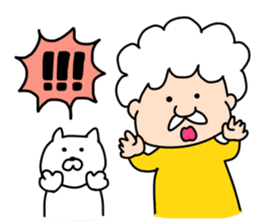 Afro Grandpa and cat sticker #15690358