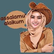 สติ๊กเกอร์ไลน์ Cithatha: Cowgirl Hijab Vol. 1 (Sachet)