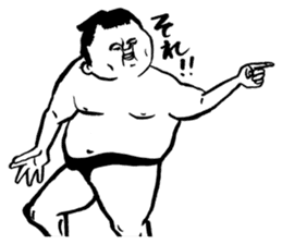 a wrestler sticker #15701254