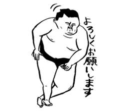 a wrestler sticker #15701274