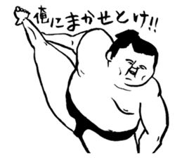 a wrestler sticker #15701275