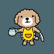 สติ๊กเกอร์ไลน์ Usable sticker of the pretty toy poodle.