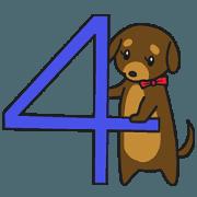 สติ๊กเกอร์ไลน์ Modest dog4