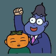 สติ๊กเกอร์ไลน์ Eggplant Papa & his family