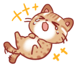 Cute Leopard Cat sticker #15717443