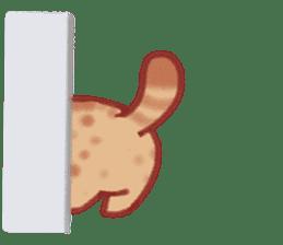 Cute Leopard Cat sticker #15717445