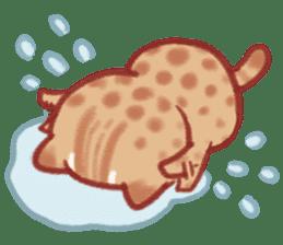 Cute Leopard Cat sticker #15717452
