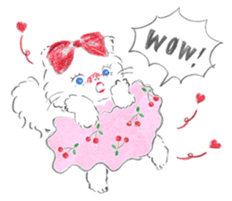 Kitty and girl 2 sticker #15718388