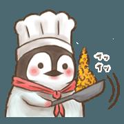 สติ๊กเกอร์ไลน์ Penguin and Harry's sticker for Cooks