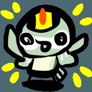 สติ๊กเกอร์ไลน์ Rolling Acorn:Wild Bird Goldcrest
