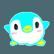 สติ๊กเกอร์ไลน์ blue penguin marshmallow