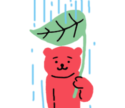 Reply in cheerful English of a red bear sticker #15726768