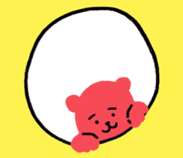Reply in cheerful English of a red bear sticker #15726771