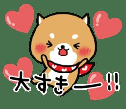 The lovely Japanese Shiba inu sticker #15728362