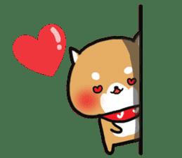 The lovely Japanese Shiba inu sticker #15728378