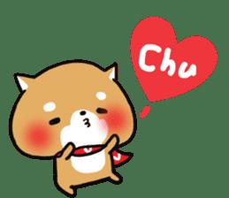 The lovely Japanese Shiba inu sticker #15728383