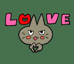 Sticker of the cat which is short legs sticker #15729914