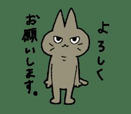 Sticker of the cat which is short legs sticker #15729915