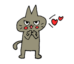 Sticker of the cat which is short legs sticker #15729922