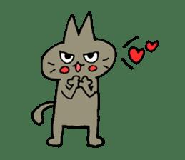Sticker of the cat which is short legs sticker #15729922