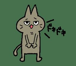 Sticker of the cat which is short legs sticker #15729923