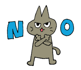 Sticker of the cat which is short legs sticker #15729926