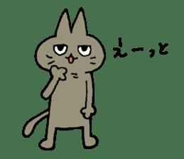 Sticker of the cat which is short legs sticker #15729933