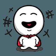 สติ๊กเกอร์ไลน์ Abi smile + laugh 100%