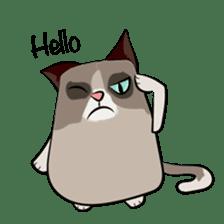 Grumpy Cute Cat sticker #15734546