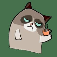 Grumpy Cute Cat sticker #15734551
