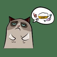 Grumpy Cute Cat sticker #15734558