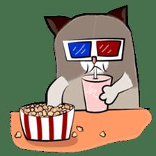 Grumpy Cute Cat sticker #15734573
