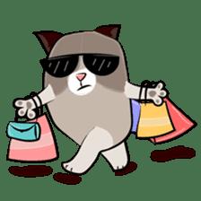 Grumpy Cute Cat sticker #15734578