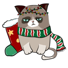 Grumpy Cute Cat sticker #15734581